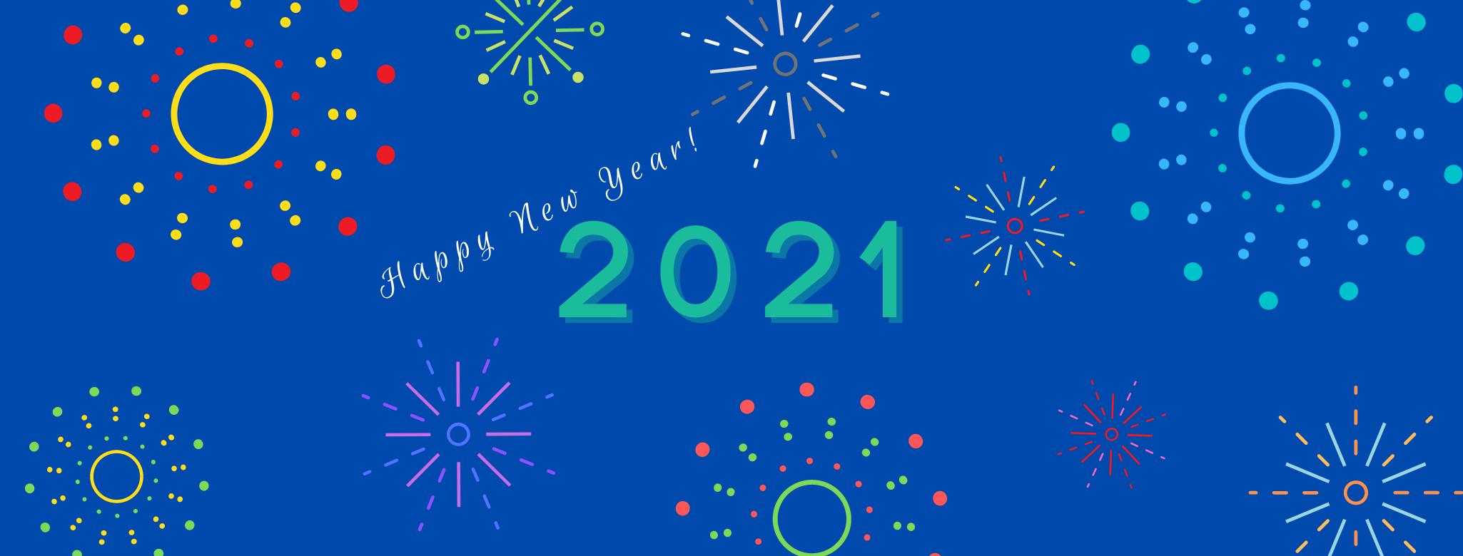 2021 Happy New Year Banner